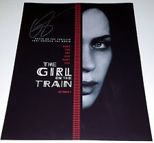 EMILY BLUNT In-Person Signed 11x14 Girl on the Train Movie Poster Photo w/COA