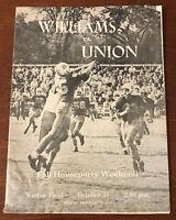 RARE 1959 Williams College vs Union Football Program Fall Houseparty Weekend
