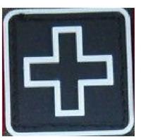 Medic Cross Solas On Black solasX Patch2X2 With VELCRO\u00ae Brand Fastener
