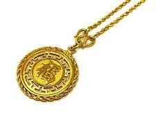 "24k Yellow Gold Reversible Long Life Good Luck Chinese Symbol Pendant 24"" Chain"