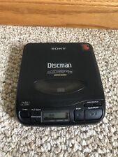 Sony Discman D-33 CD Compact Portable Player w/ Mega Bass Black -Works Great!!