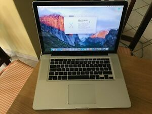 Apple MacBook Pro 15 Late 2008 -Intel Core 2 Duo 2.40GHz-HDD250GB-Ram4GB-LEGGERE