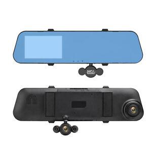 "4.0"" Three Lens Dash Camera 1080P Car DVR  Rear View Mirror Auto Recorder+64GB"