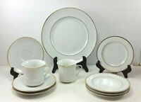 Johann Haviland Bavaria Germany White Gold Trim Replacement China Plates Cups