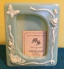 Picture Photo Frame Blue Genuine Marlestone Cultured Marble N. Zealand Handmade