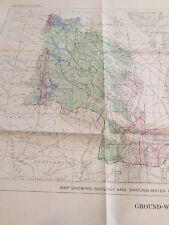 1963 Eastern Shore Virginia James York Rappahannock Riven Basins Water Map