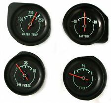 1968-1971 Corvette Gas, Water Temp, Amp And 70 Pound Oil Pressure Gauges