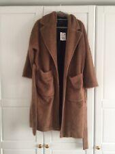 Zara Dark Camel Women's Faux Fur Coat SIZE MEDIUM BRAND NEW