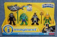 IMAGINEXT DC SUPER FRIENDS HEROES & VILLAINS MANTA VS AQUAMAN & K CROC VS BATMAN