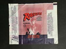 SCANLENS RAIDERS OF THE LOST ARK WAX WRAPPER