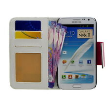 Three-color Wallet PU Leather Card Case Flip Folio Cover for GALAXY Note II N710