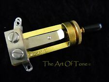 Switchcraft Gold Toggle Switch Long Frame 3-way - Black Tip Included