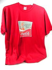 Red Men's 2004 ATHENS OLYMPICS TORCH RELAY TEE SHIRT, Coca-Cola Sponsor