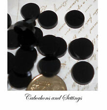 10 x Black Round 12mm Laser Cut Cabochons For Earrings etc Ready to Embellish