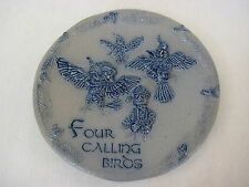 """Hand Made Rowe Pottery Works """"Four Calling Birds"""" Decorative Plate, 6 1/2"""""""