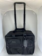 TUMI ALPHA WHEELED COMPACT LAPTOP COMPUTER BRIEF CASE ROLLING BAG BALLISTIC
