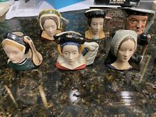 New ListingRoyal Doulton 'Henry Viii & Six Wives' Small Character Jugs - Complete Set!