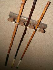 Set Of 3 Antique Cast Iron Carriage Driving Whip Rack Wall Holder Total 9 Whips.