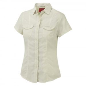 Craghoppers| Womens Nosilife Darla SS Shirt | Sea Salt | 12