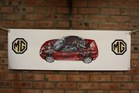 mg TF      large pvc  WORK SHOP BANNER garage   SHOW banner