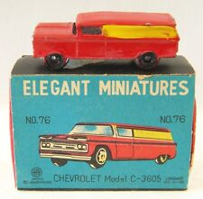 RARE 1960s MARX ELEGANT MINIATURES CHEVROLET PANEL WITH ORIGINAL BOX & PACKING
