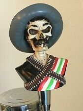 Skull Bandito Zapata figural beer tap handle for kegerator! Mexican Zombie