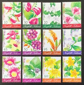 Norfolk Island. Flowers Set. SG797/08. 2002. MNH. Protected in Hawids. (LC68)