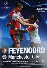 off. Programm UEFA CL 2017/18 Feyenoord Rotterdam - Manchester City