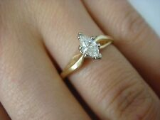 LOVELY 0.24 CARAT MARQUISE DIAMOND SOLITAIRE ENGAGEMENT RING 14K YELLOW GOLD