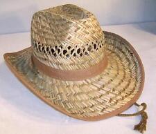 12 OPEN STRAW ZIG ZAG COWBOY HAT hats #148 wholesale bulk western ranch caps NEW