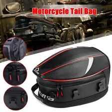 Waterproof Motorcycle Rear Tail Seat Bag Saddle Helmet Shoulder Carry Tank Bag