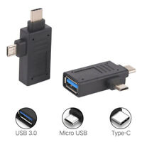 USB 3.1 2-in-1 Type-C&Micro USB to USB 3.0 / 2.0 Female OTG Adapter Convertor HG