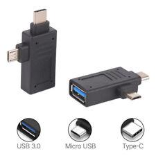 Convertitore per adattatore OTG USB da 2 a 1, USB Type-C e Micro USB-USB 3.0AUIT