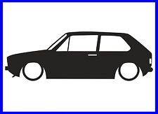 MK1 VW GOLF SILHOUETTE DECAL STICKER