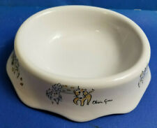 Olivia Grace Puppy Dog Kitty Cat Stoneware Water Bowl Dinner Dish 5.5""