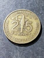 1957 French West Africa 25 CFA Francs (Togo) Coin #223