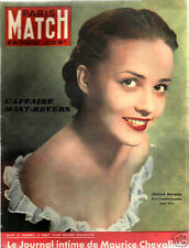 paris match n°45  mast-revers jeanne moreau  chevalier robert villemain