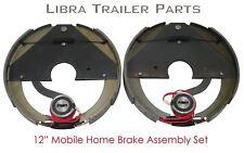 """New 12"""" mobile home trailer brake assembly pair set  / 2.65"""" center bore - 21011"""
