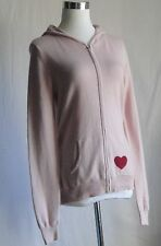Red Envelope Silk & Cashmere Pink Hoodie Size L
