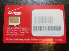 NEW VERIZON MICRO SIM CARD 4G LTE  PREPAID -POSTPAID DFILL-3FF