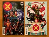 X-MEN 1 Leinil Yu Main + Brooks Party Variant Set Hickman 2019 NM+