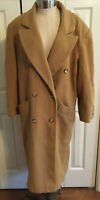 Preston & York Petites Double Breasted 100% Wool Camel-Colored Coat Size 10P
