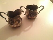 Circa 1910 Art Nouveau Creamer and Sugar Bowl Monarch Silver Co.