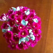 VTG Millinery Flower Forget Me Not BunchRosy Pink Cluster for Hat Bride Hair RP1