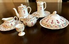 Davis Collamore & Co. Cauldon England Antique Tea Set/butter Roses/gold 11pcs.