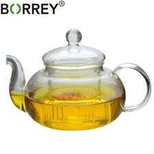 New listing Heat resistant Glass Teapot Double Wall Glass Teacup Clear Pot Infuser Qolong