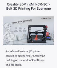 Creality CR30, Naomi Wu, 3D Belt Printer, 3D Printer, Creality3d