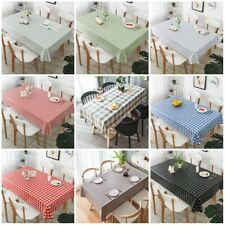 New Waterproof PVC Table Cloth Wipe Clean Party Tablecloth Rectangle Cover Cloth
