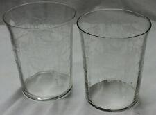 ANTIQUE CAMBRIDGE CLEAR DEPRESSION GLASSES