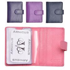 Genuine Real Leather Mens Ladies Credit Debit Loyalty Card Case Holder Wallet